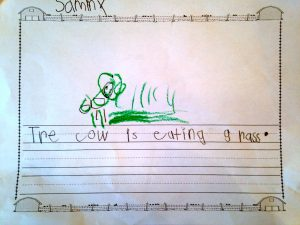 Cow Writing 2